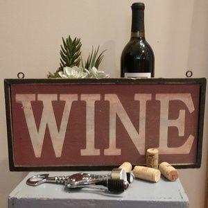 Distressed Wine Sign